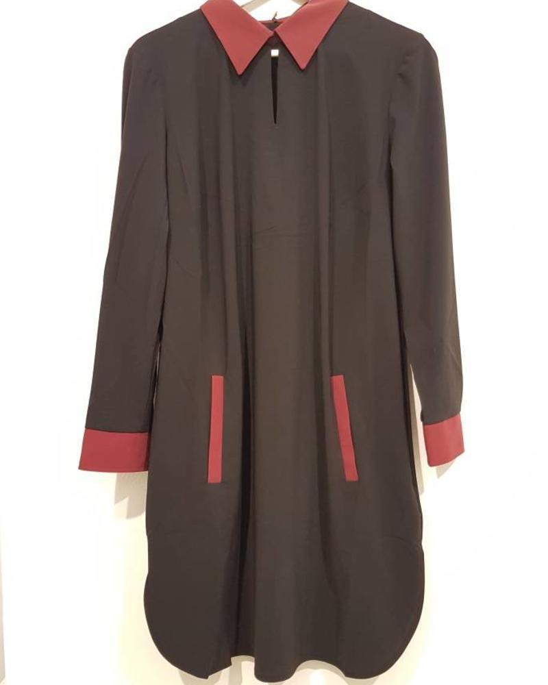 PlusBasics Shirtdress #10 black/red