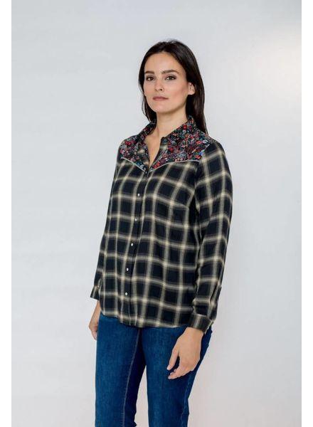 October blouse ruit/bloem