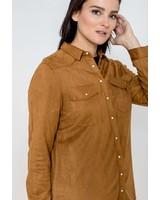October blouse suedine