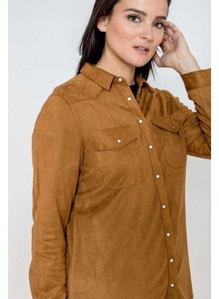 October blouse suedine