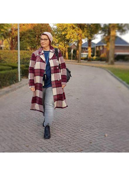 fashion item: checkered coat