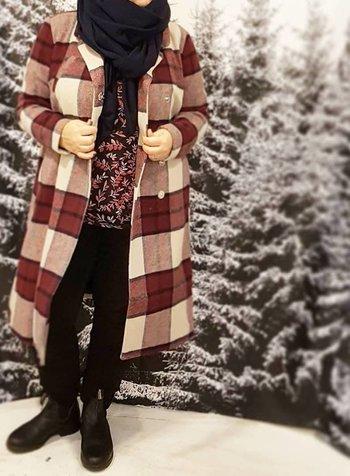 fashion coat: checkered