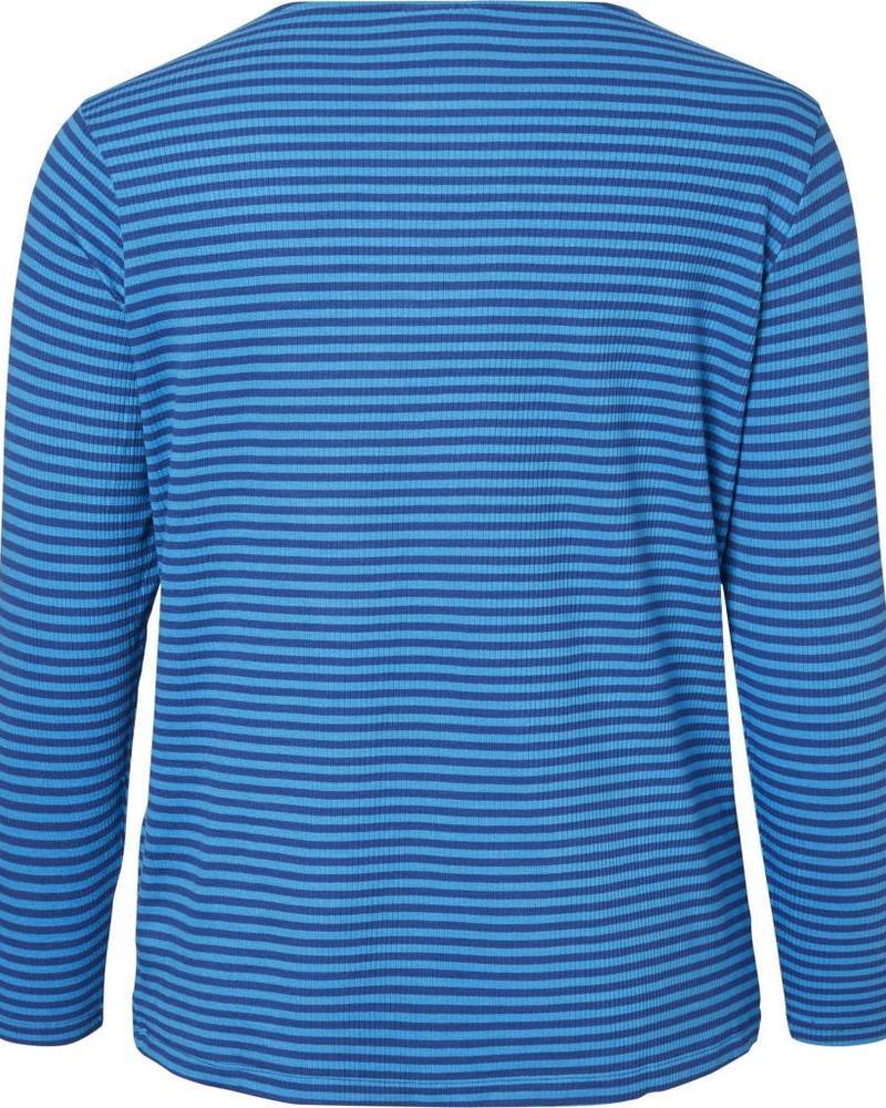 Junarose Shirt lm streep blauw