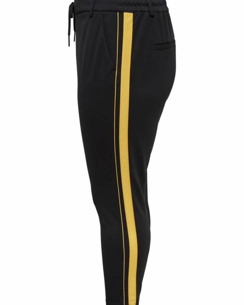 Only Carmakoma Goldtrash pants zwart/bies geel