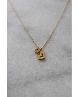 ketting 40/45 cm heart gold