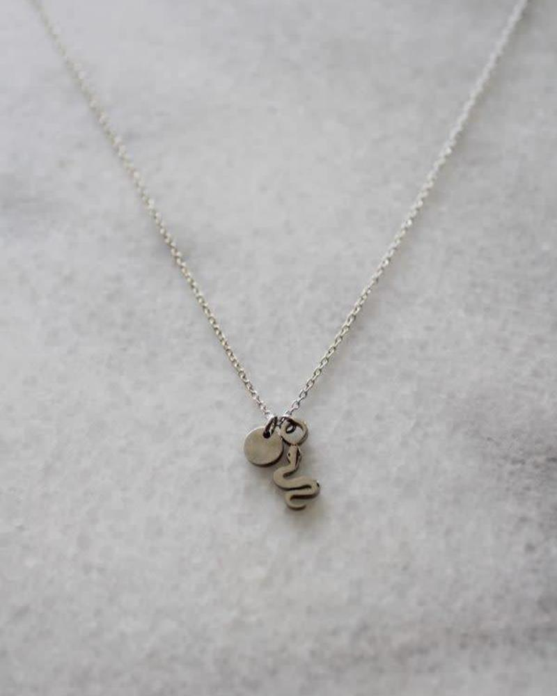MADAM the label ketting 40/45 cm snake zilver