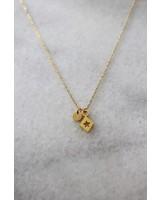 ketting 40/45 cm triangle/star gold