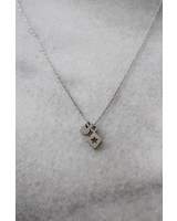 ketting 40/45 cm triangle/star zilver