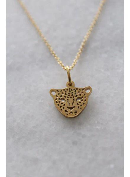 MADAM the label ketting 50/60 cm tiger goud