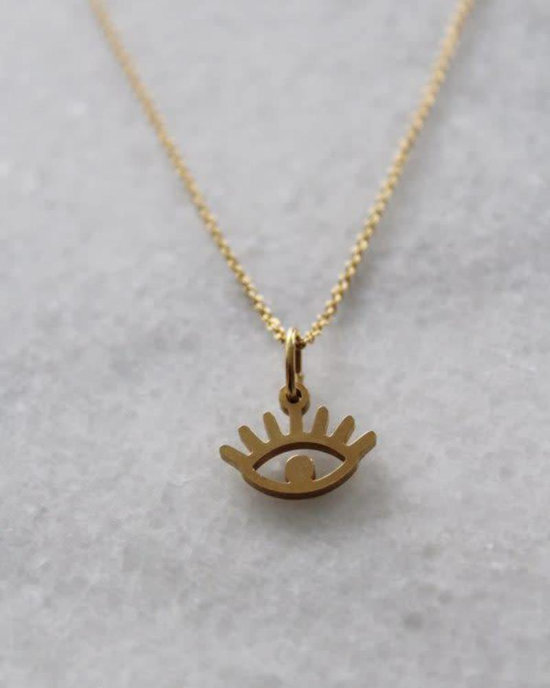 ketting 50/60 cm eye goud