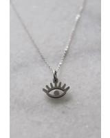 ketting 50/60 cm eye zilver