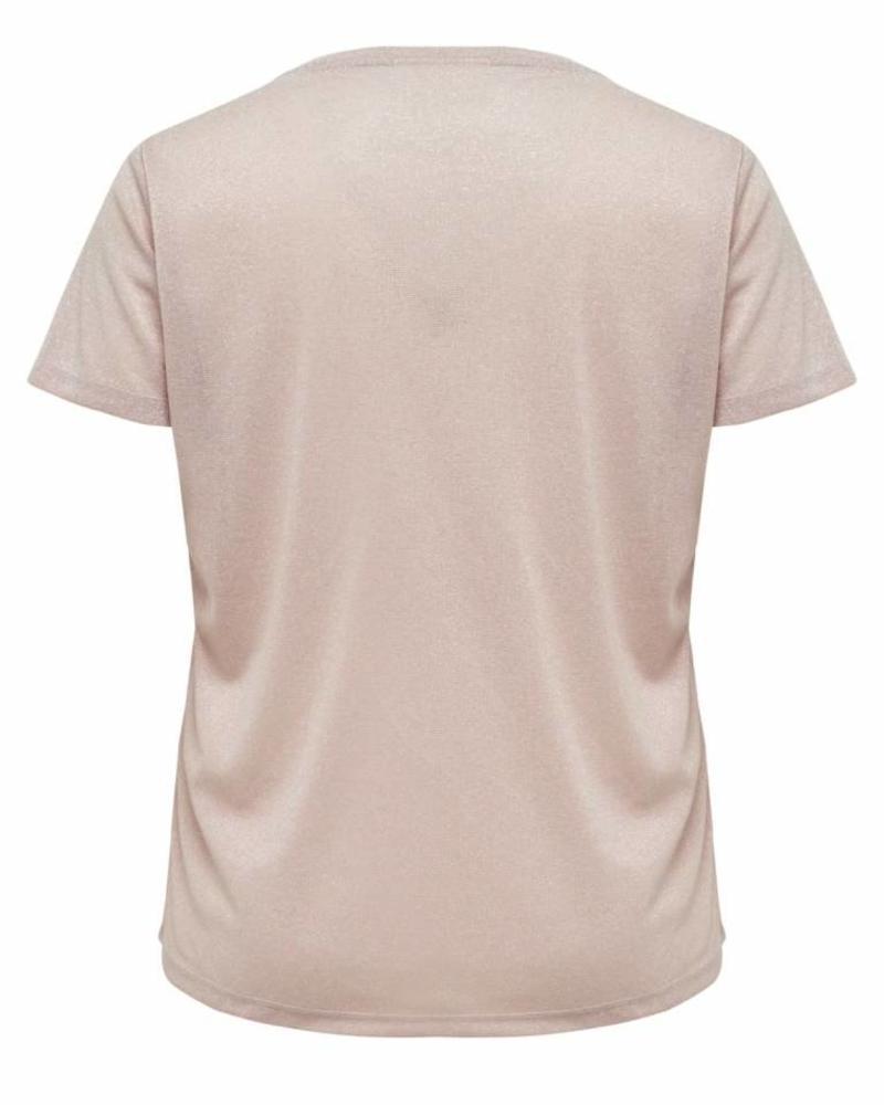 Only Carmakoma Rex lurex top pink