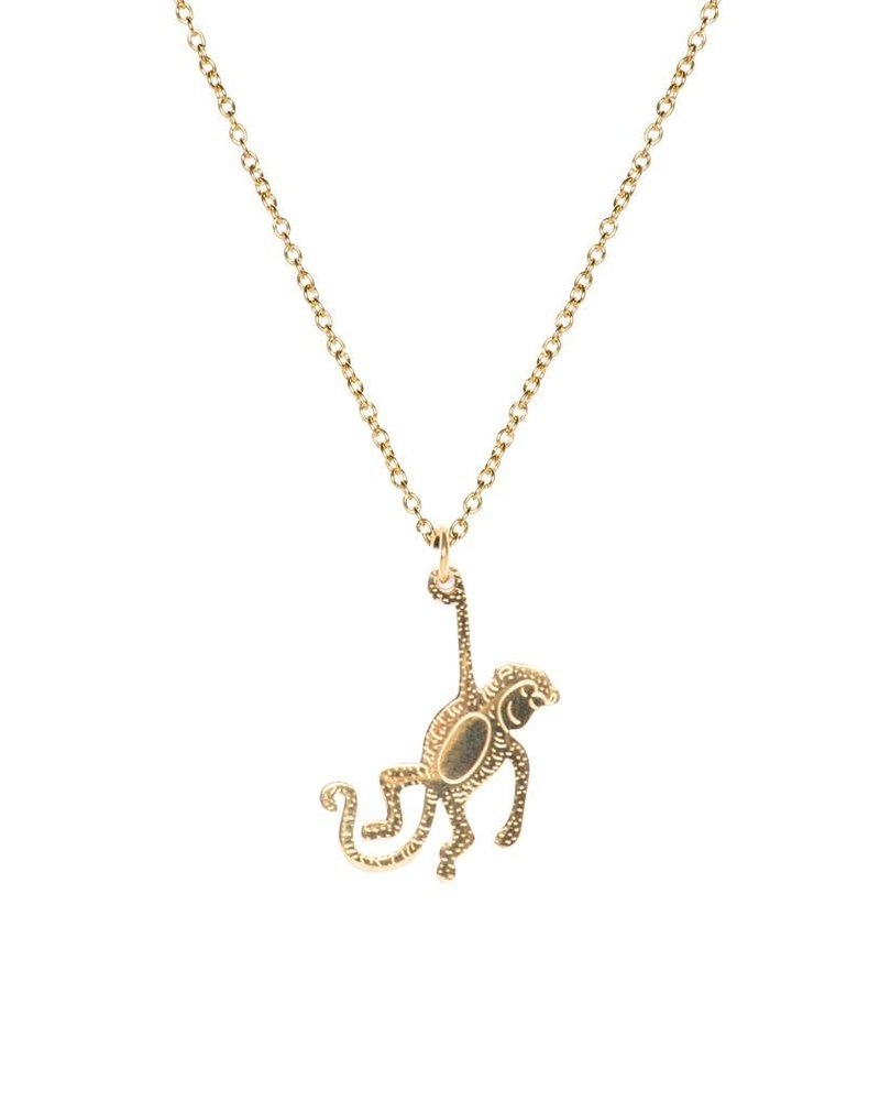 MADAM the label ketting long 50/60 cm monkey gold