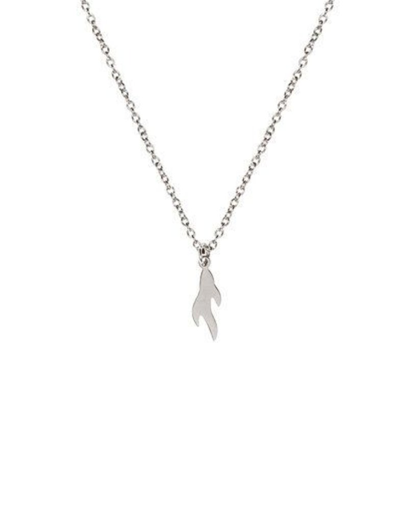 MADAM the label ketting flame short 40/45 cm steel