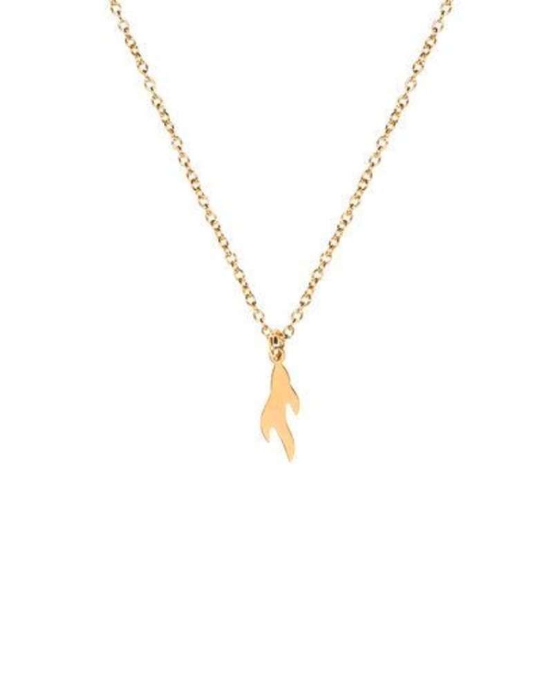 MADAM the label ketting flame short 40/45 gold