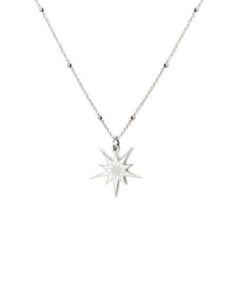 MADAM the label ketting beautiful star long 50/60 cm steel