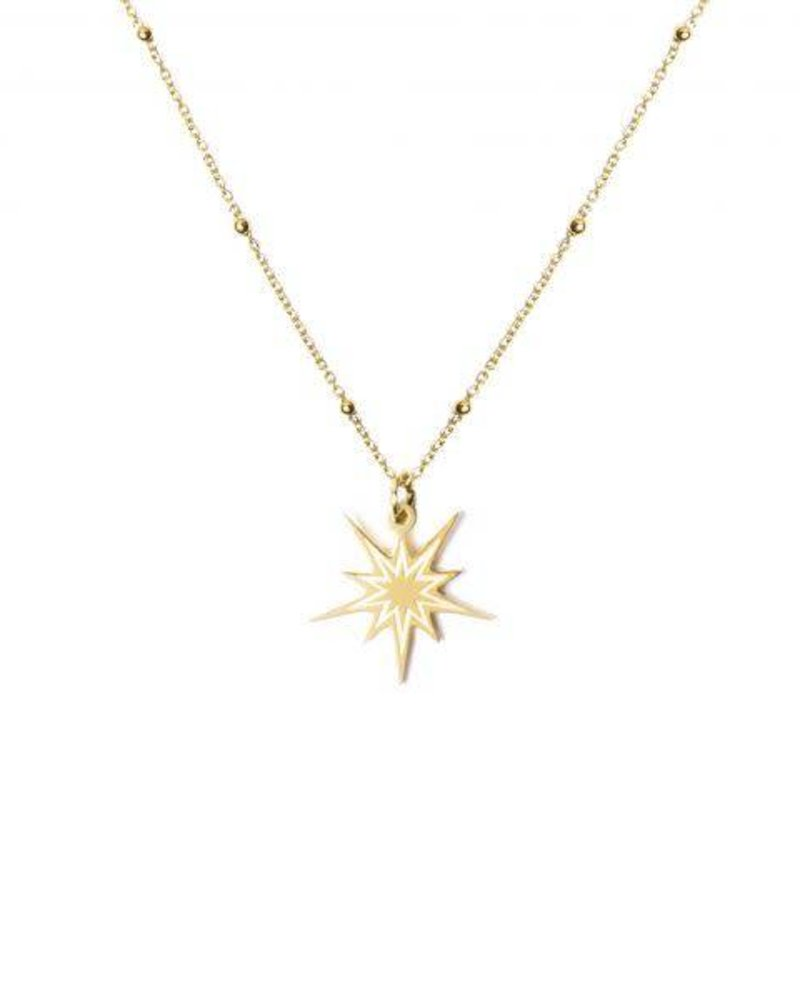 MADAM the label ketting beautiful star 50/60 cm long gold