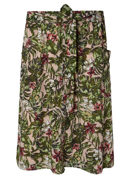 Junarose midi skirt tropical
