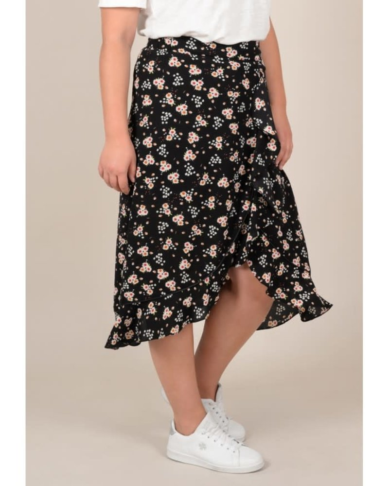 Gabrielle by Molly Bracken floral wrap skirt