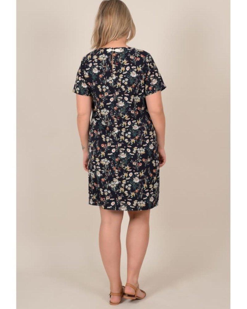 Gabrielle by Molly Bracken above knee dress navy flowers