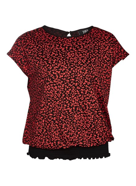 Zoey smog top leo red