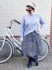 skirt zebra en oversized knit