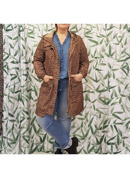 leopard spring coat