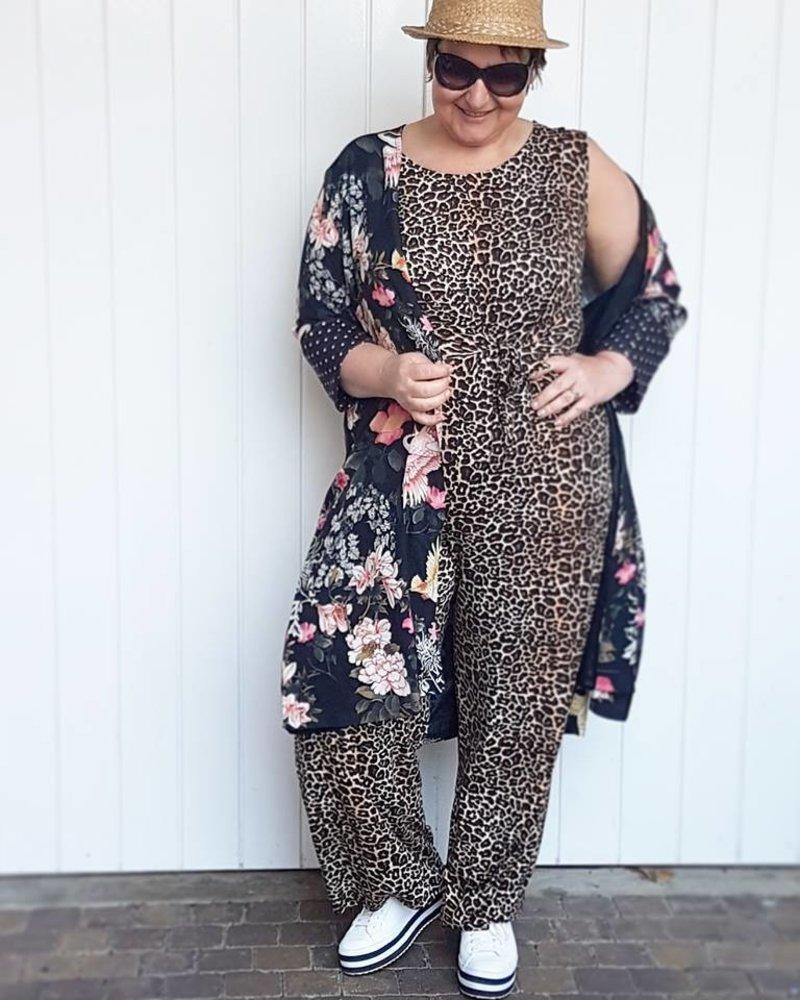 jumpsuit leopard en kimono