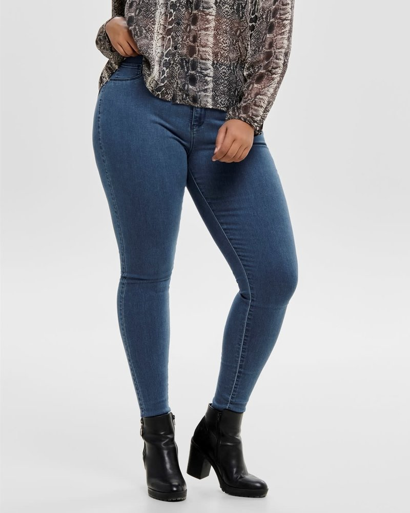 Only Carmakoma push up jeans storm medium blue