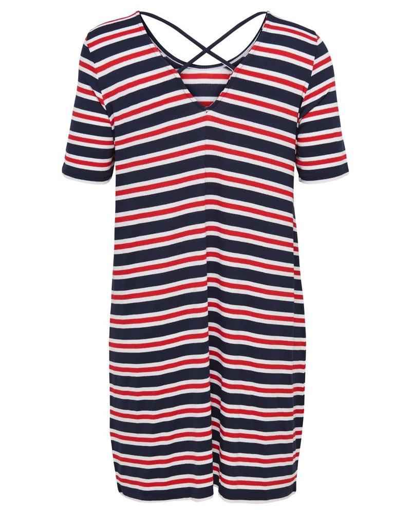 Only Carmakoma dress bandana stripes