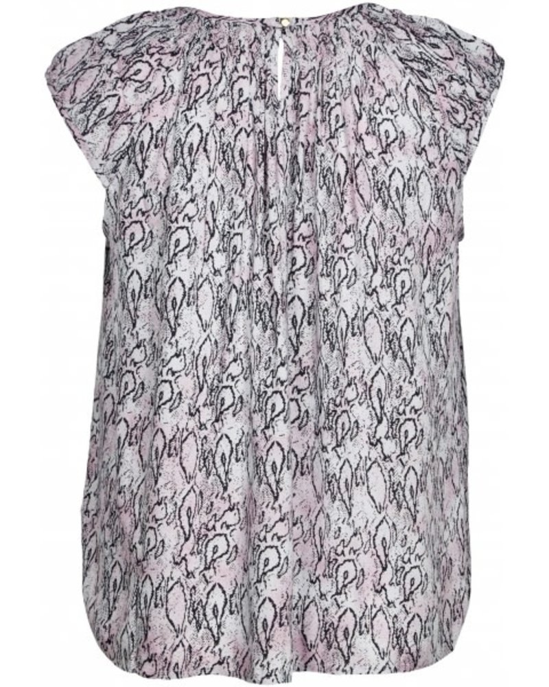 Zoey penny top rose snake print