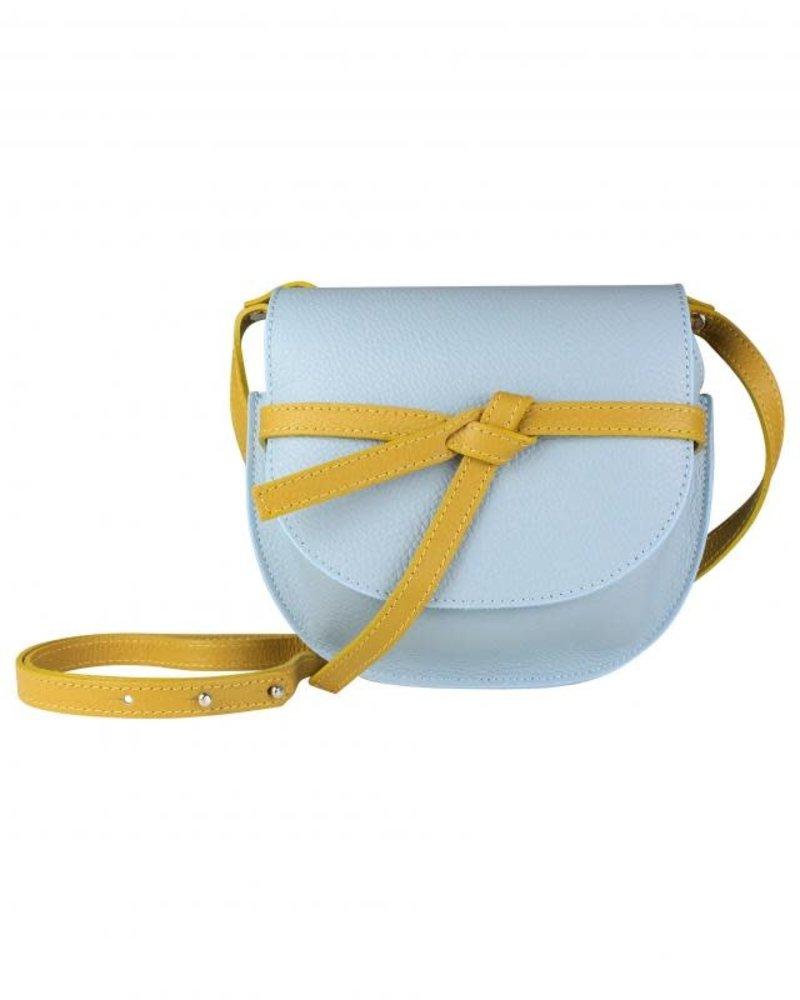 Folded strap lichtblauw geel