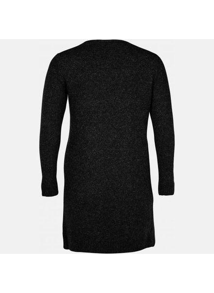 Zoey long knit cardigan grey/black