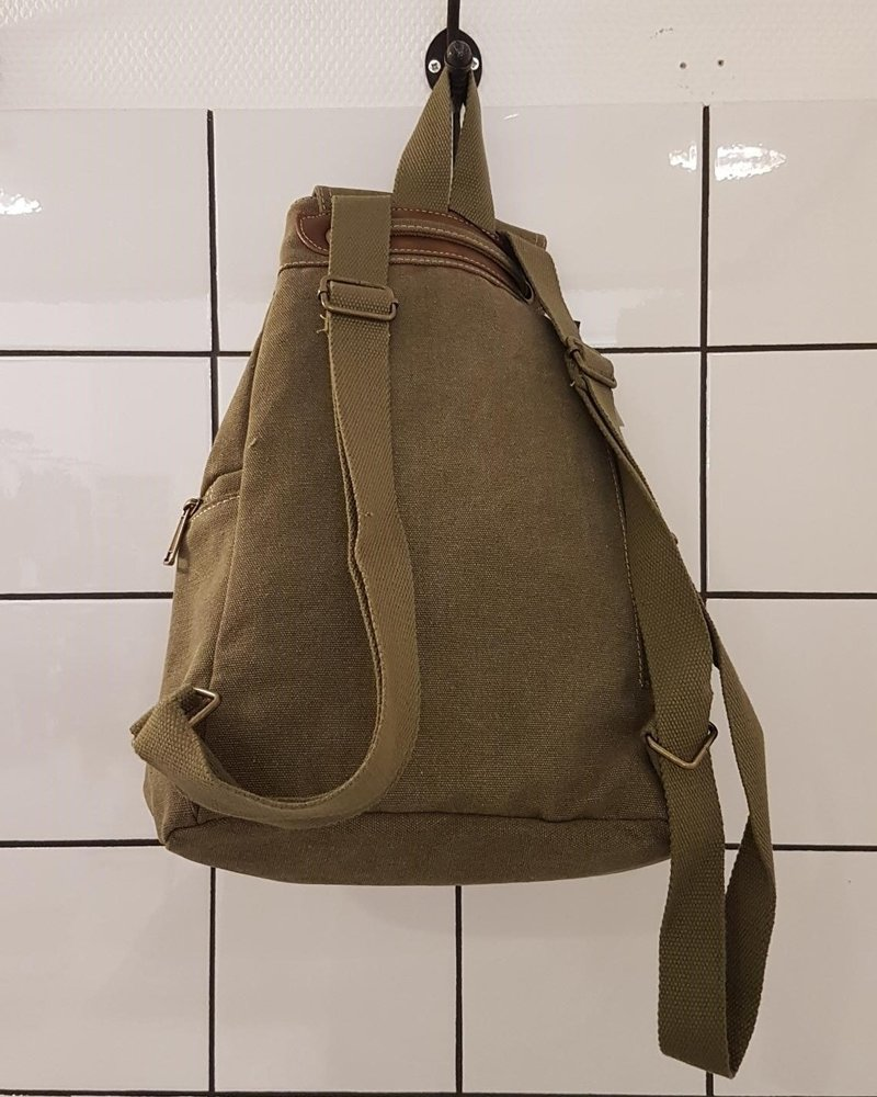 canvas rugzak olive