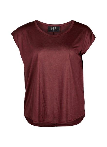 Zoey ariana shirt Wine red