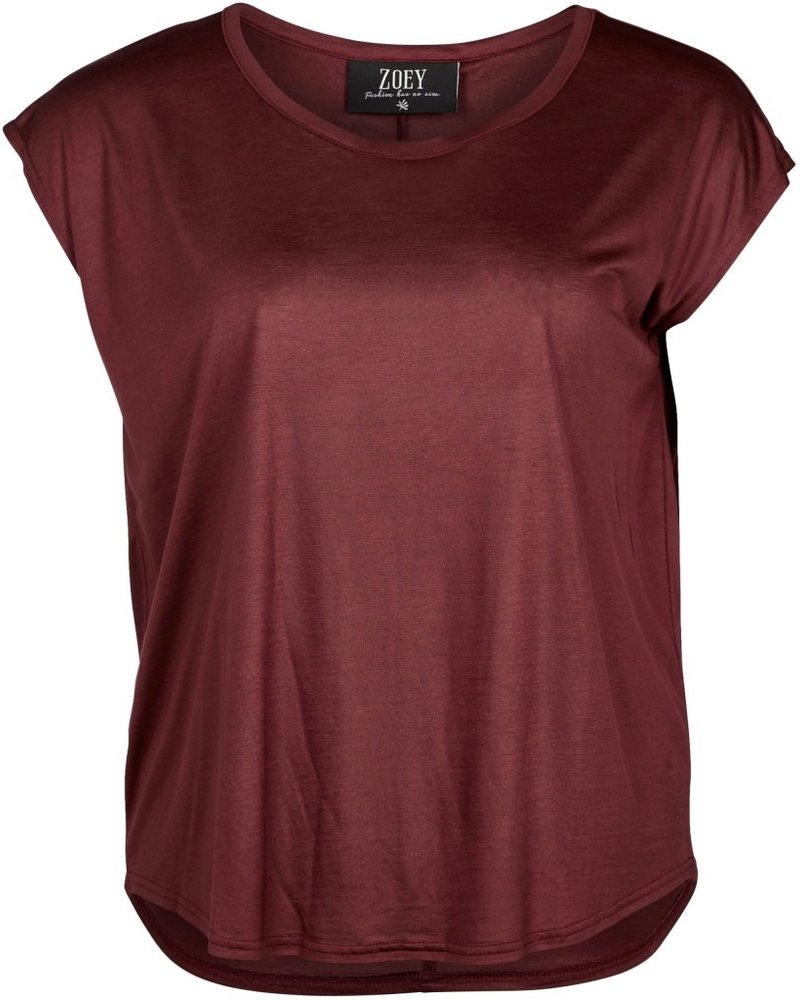 Zoey ariana shirt Wine red