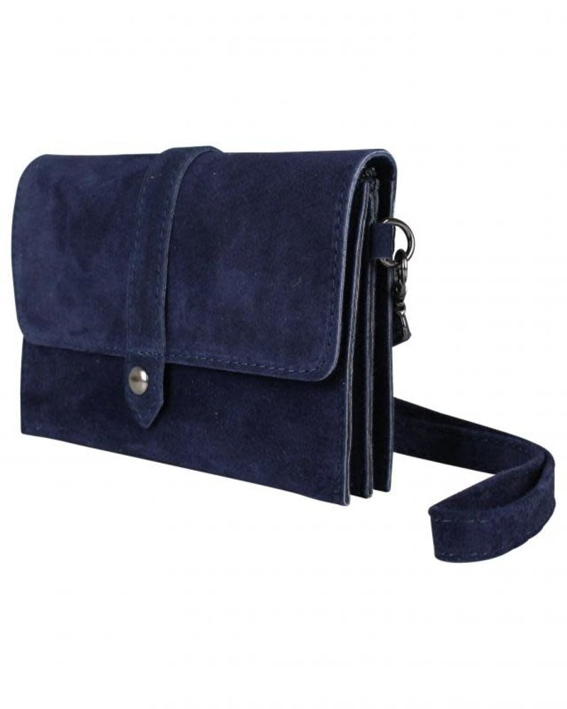 Let it be suede donkerblauw