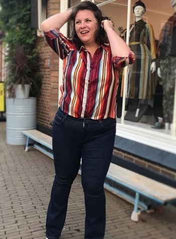multicolour streep blouse