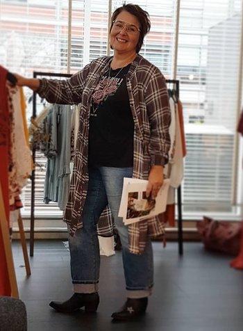 blouse vs dress lang ruit