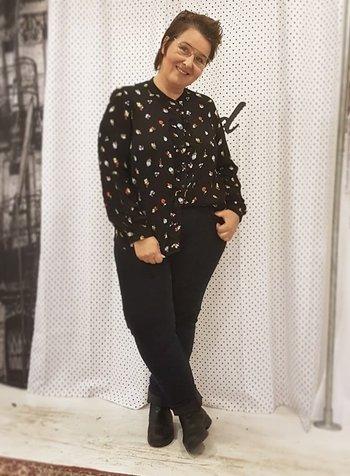 bloemetjes blouse