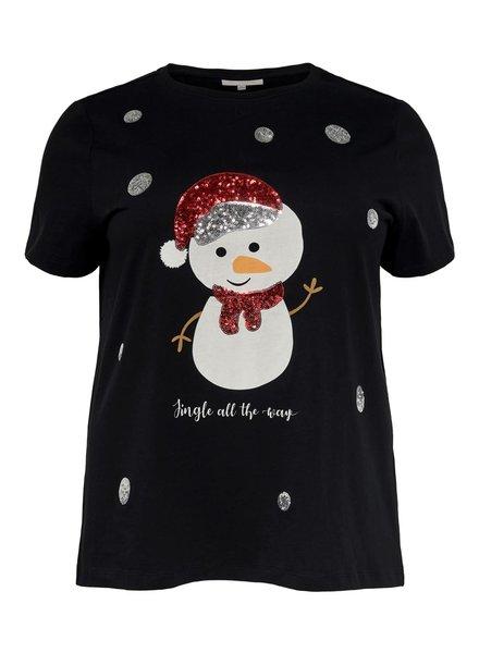 Only Carmakoma merry xmas tshirt black 15191859 OnlyCarmakoma
