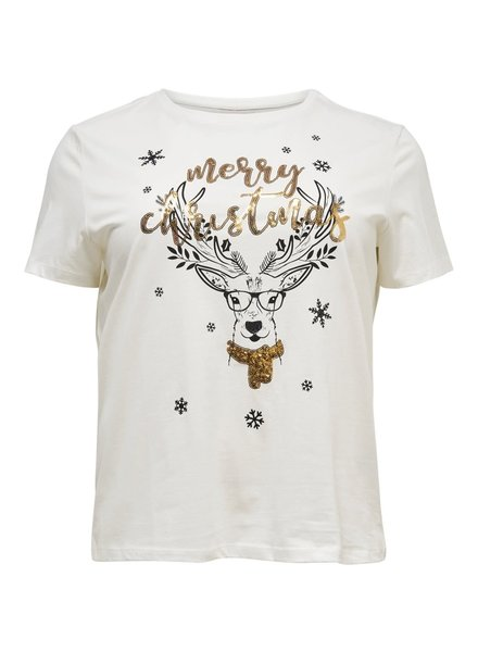 Only Carmakoma merry xmas tshirt wit 15191859 OnlyCarmakoma
