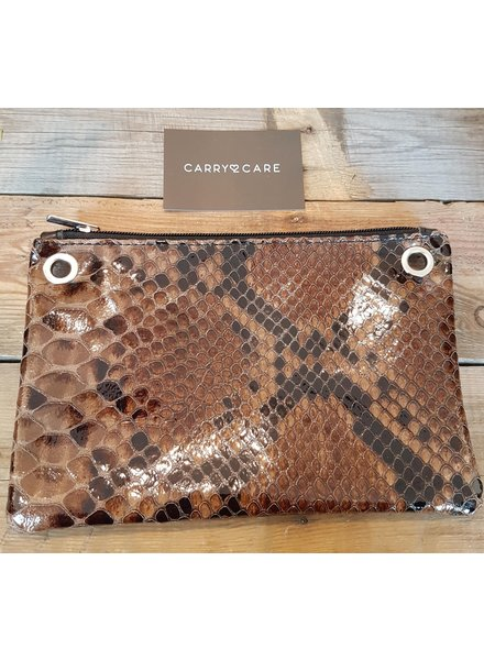 Carry2Care bag snake cognac/zwart