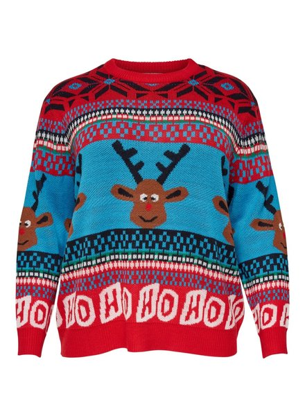 Only Carmakoma Reindeer knit pullover