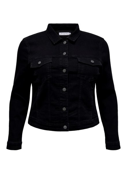 Only Carmakoma Denim jacket black washed
