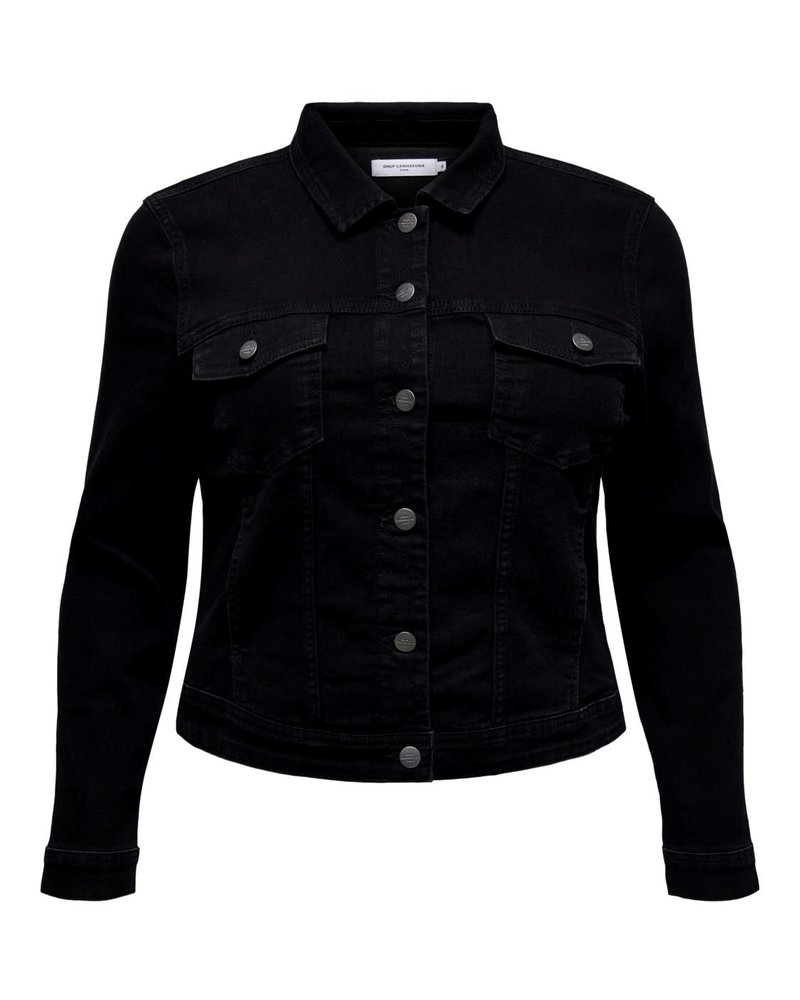 Only Carmakoma Denim jacket black washed