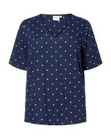 Junarose by Vero Moda top/shirt Maika navy dots