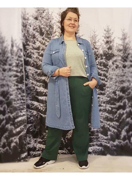 Green wide pants