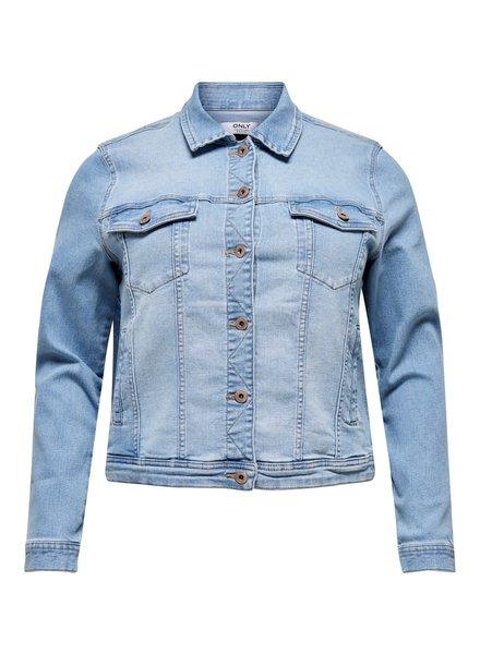Only Carmakoma denim jacket lock