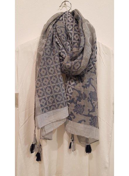 sjaal denim blue/grey